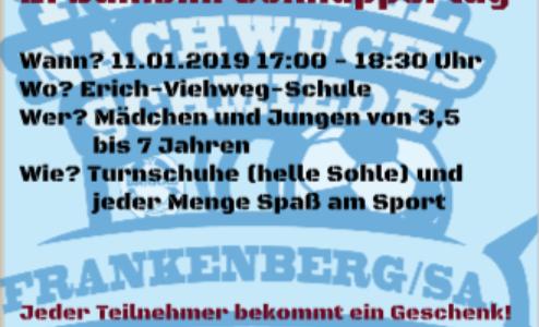 +++11.01.2019 – Zweiter Bambini-Schnuppertag in der Fußball-Nachwuchsschmiede Frankenberg/Sa.+++