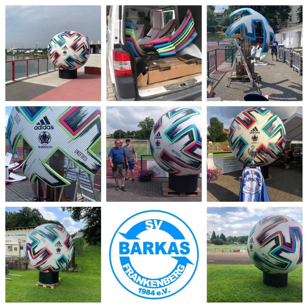 Adidas Uniforia EM Ball aus Herzogenaurach des DFB bei Barkas Mini-EM - 17.07.2021