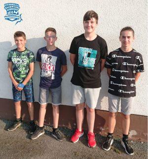 U15 Schiedsrichter - Elias, Jeremias, Jannik und Rocco
